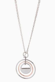 Next Mix Metal Maxi Pendant Necklace