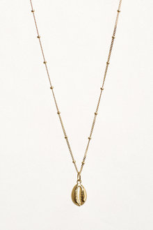 Next 18 Carat Gold Plated Shell Charm Necklace