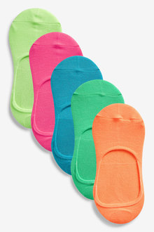 Next Bright Invisible Trainer Socks Five Pack
