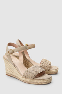 Next Leather Forever Comfort Weave Wedges