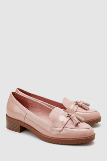 Next Leather Cleated Tassel Loafers