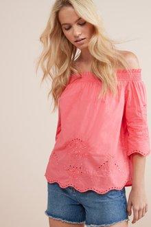 Next Embroidered Bardot Top