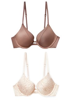 Next Cara Push Up Plunge Bras Two Pack