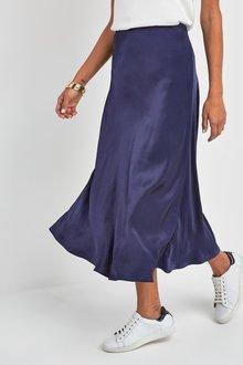 Next Satin Midi Skirt