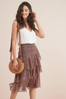 Next Ruffle Detail Skirt