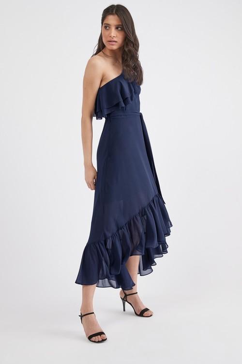 Next Ruffle One Shoulder Dress- Petite