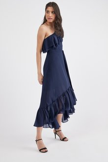 Next Ruffle One Shoulder Dress- Petite