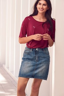 Next Denim Skirt-Petite - 238056