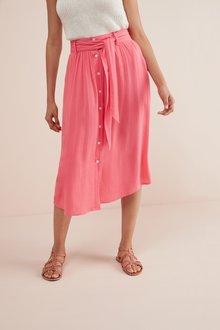 Next Button Through Skirt- Tall