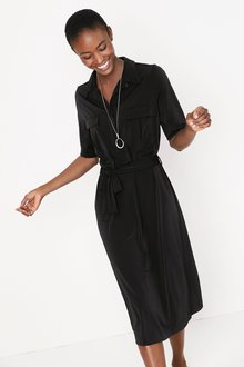 Next Utility Pocket Jersey Shirt Dress- Tall
