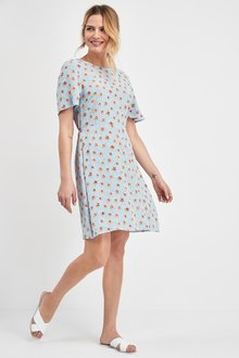 Next Short Sleeve Tea Dress