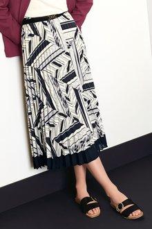 Next Geometric Print Skirt - 238099