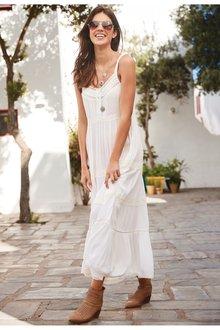 Next Lace Trim Maxi Dress- Petite