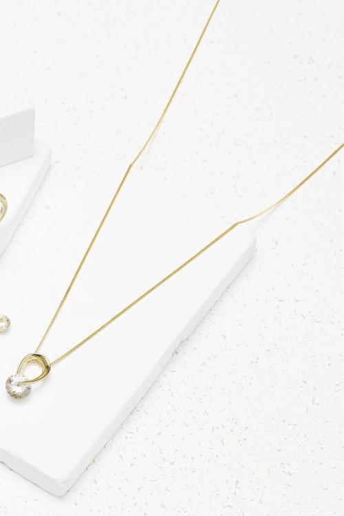 Next 18 Carat Gold Plated Organic Jewel Necklace