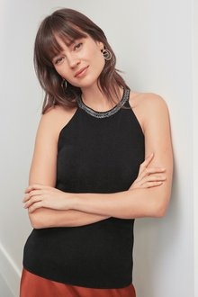 Next Embellished Halter Neck Top