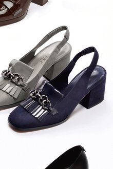 Next Slingback Chain Loafers- Wide