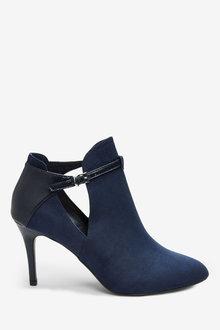 Next Forever Comfort Open Side Shoe Boots- Regular