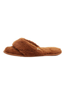 Next Faux Fur Toe Thong Slippers