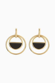 Next Circle Drop Enamel Detail Earrings