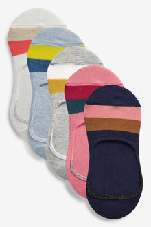 Next Stripe Invisible Trainer Socks Five Pack