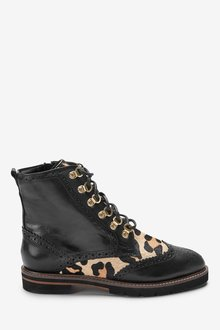 Next Signature Comfort Leather Lace-Up Boots