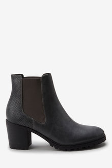 Next Cleat Sole Chelsea Boots- Regular