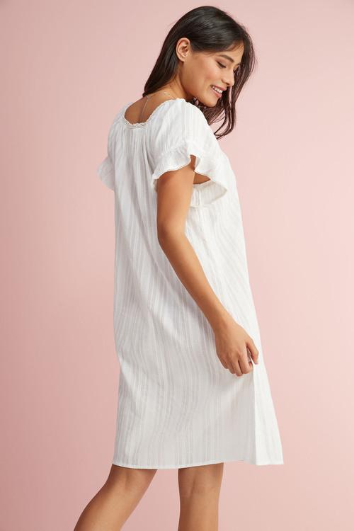 Next Square Neck Ruffle Cotton Nightdress