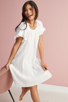 Next Square Neck Ruffle Cotton Nightdress - 238250