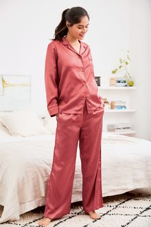 Next Jacquard Spot Button Through Pyjamas