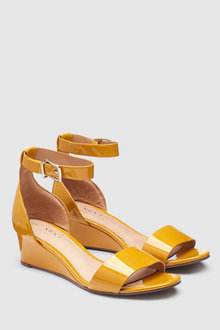 Next Leather Forever Comfort Simple Wedges