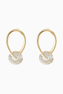 Next 18 Carat Gold Plated Organic Jewel Earrings