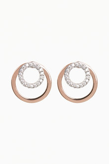 Next Rose Gold Plated Cubic Zirconia Front To Back Earrings