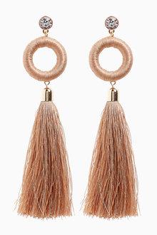 Next Statement Tassel Drop Earrings