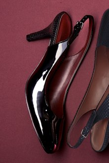 Next Almond Toe Slingbacks- Wide