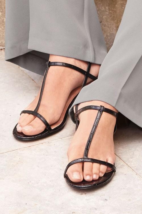 Next Thin Strap Block Sandals