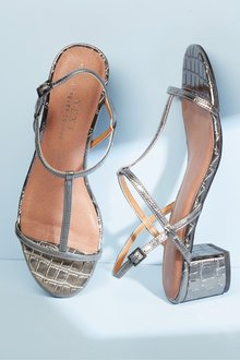 Next Thin Strap Block Sandals