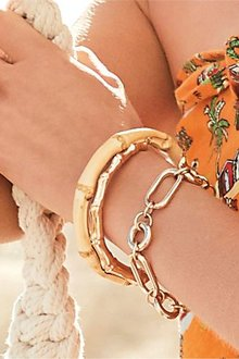 Next Bamboo Effect Bracelet Two Pack