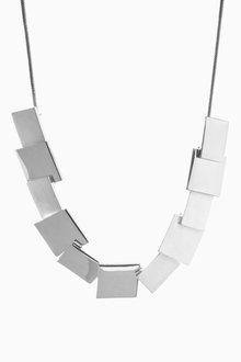 Next Square Shapes Short Necklace