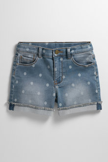 Pumpkin Patch Denim Knit Short with Fray Hem - 238461