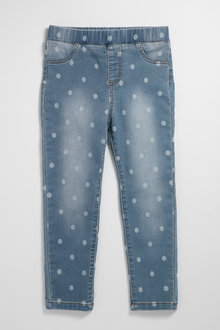 Pumpkin Patch Stretch Denim Jeggings - 238462