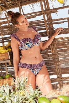 Next Ditsy Print Frill Bikini Top
