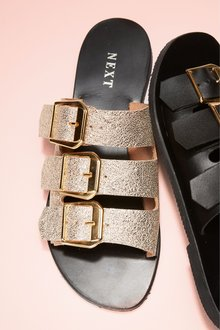 Next Three Band Buckle Sandals
