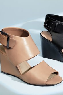 Next Peep Toe Wedge Shoe Boots- Wide