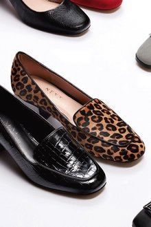 Next Low Block Loafers- Wide