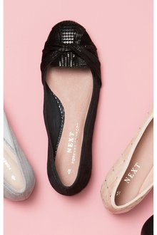 Next Forever Comfort Twist Ballerinas- Wide