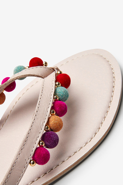 Next Pom Pom Toe Post Sandals