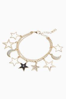 Next Star And Moon Charm Bracelet