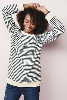 Next Stripe Towelling Top
