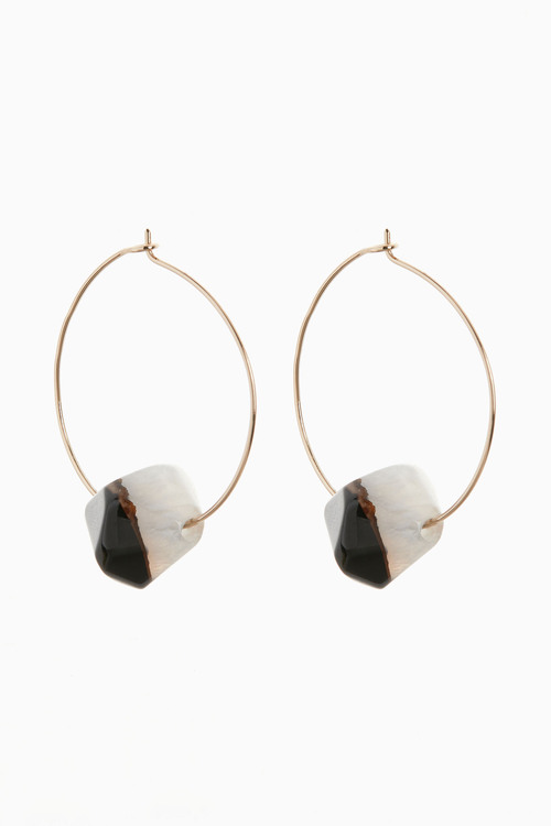 Next Semi Precious Bead Detail Hoop Earrings