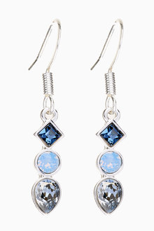 Next Crystal Drop Earrings With Swarovski Crystals